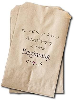 Amazon.com: Custom Party Shop Wedding Candy Bags - Bridal Shower .