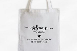 Amazon.com: Welcome Bag for Destination Wedding Cotton Canvas Tote .