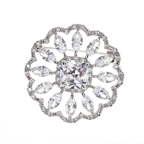 Amazon.com: SHINYTIME Rhinestone Brooch Pin Crystal Fashion Clear .