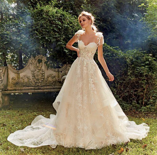 Ball Gown Embroidered Wedding Dress | Kleinfeld Brid
