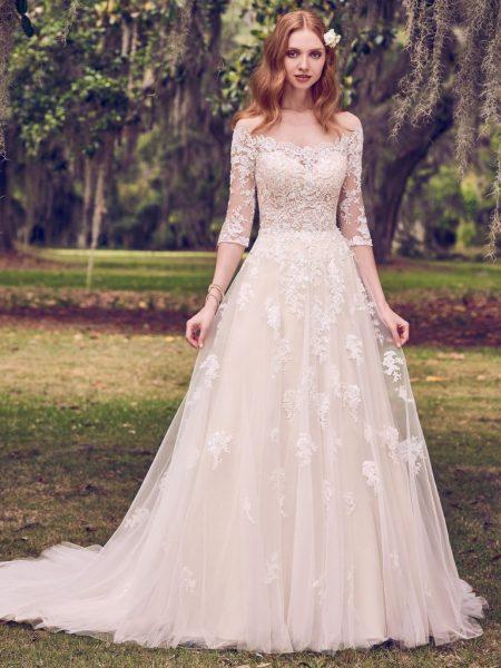 Simple A-line Wedding Dress | Kleinfeld Brid