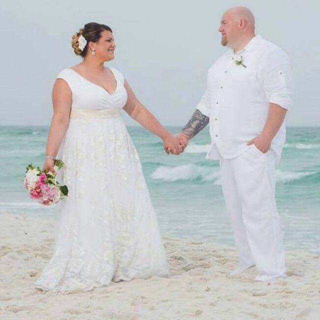 Plus Size Wedding Dress - beach wedding | Beach wedding dress .