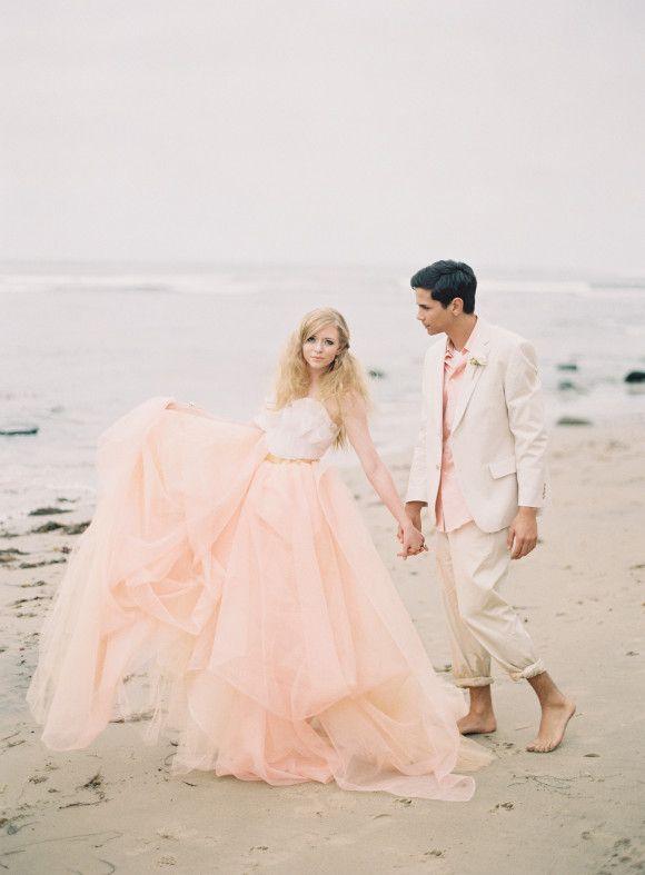 An Alternative to Ivory - 10 Inspiring Blush Wedding Dresses for .