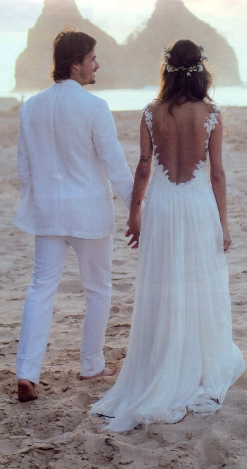 Backless beach wedding dresses: Pictures ideas, Guide to buying .