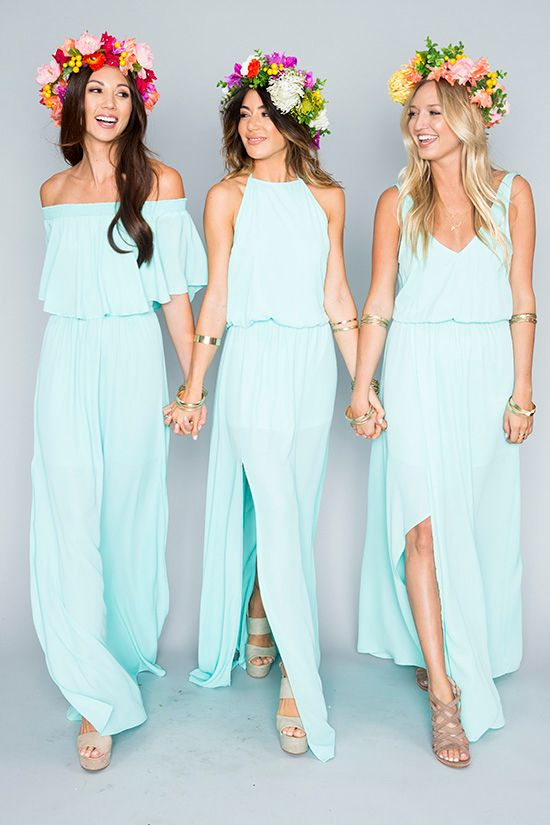 The Mumu Wedding Collection | Beach bridesmaid dresses, Mismatched .