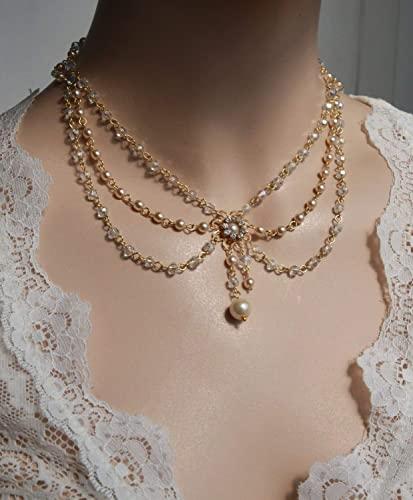 Amazon.com: Victorian Bridal Necklace Vintage Necklace Swarovski .