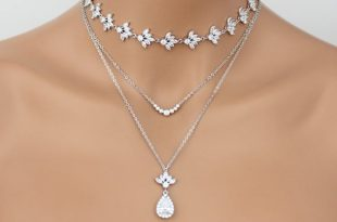 Layered Bridal necklace Bridal jewelry Layered choker necklace | Et