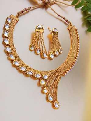Copper Designer Wedding Necklace Set - Quail - 28013