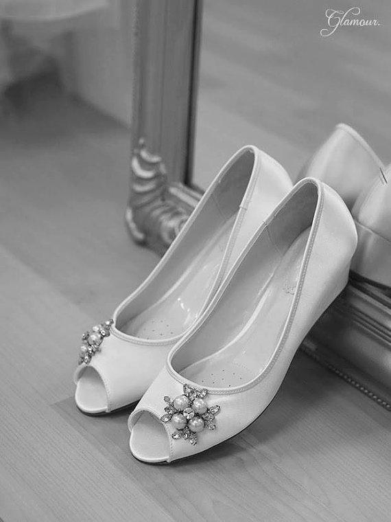 Wedding Shoes - Wedge - Handmade Wedding - Outdoor Wedding - Over .