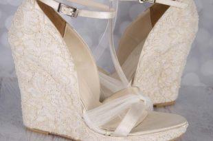 Ivory Wedding Shoes Lace Wedding Wedges Ivory Lace Wedges | Et