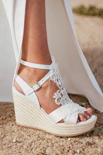 30 Wedge Wedding Shoes To Walk On Cloud | Wedding Forwa