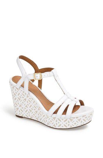 Clarks® 'Amelia Avery' Platform Wedge Sandal | Wedge wedding shoes .