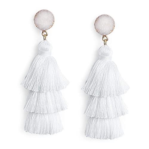 White Earrings: Amazon.c