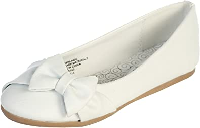Amazon.com: Ivory Pearl or White Infant & Girl's Flat Shoes with .