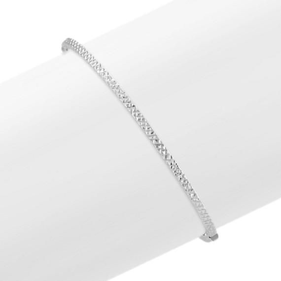 14k White Gold Bracelet (7 in) | Shane C