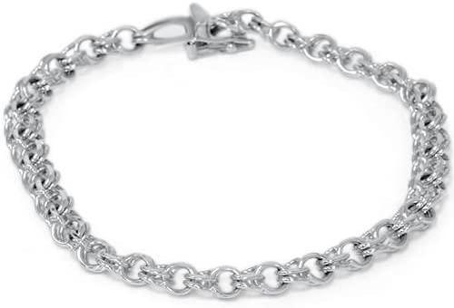Amazon.com: 14K White Gold Classic Italian Charm Bracelet: Tennis .