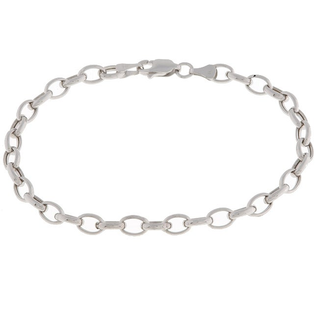 Shop 14k White Gold Charm Bracelet - Ships To Canada - Overstock .