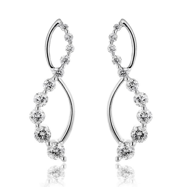 Infinity White Gold Diamond Dangle Earring For Sale Onli