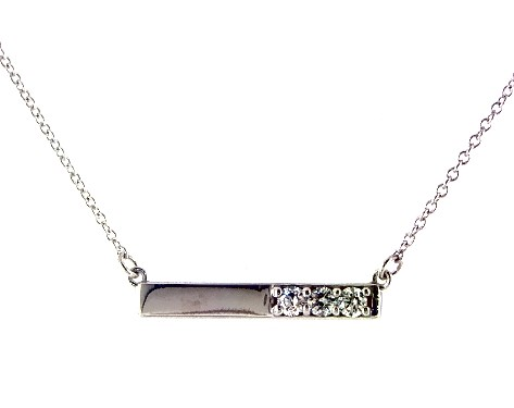necklaces, diamond necklaces, 14k white gold bar diamond necklace .
