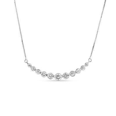 1 CT. T.W. Diamond Graduated Necklace in 14K White Gold | Diamond .