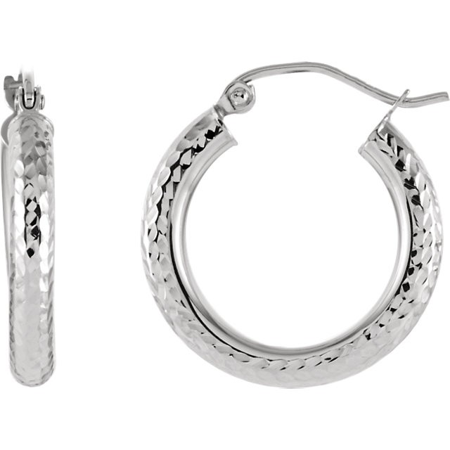 Platinum Fashion Hoop Earrin