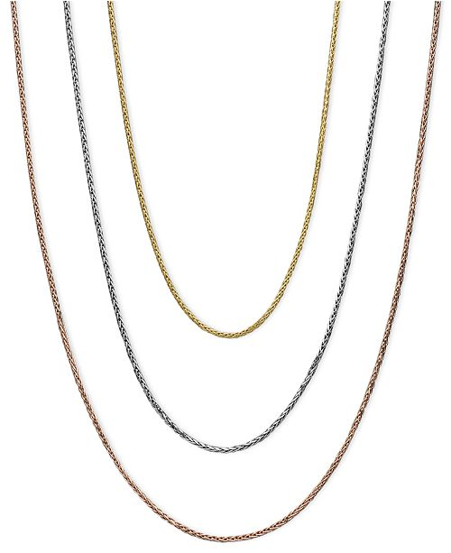 Macy's 14k Gold, 14k White Gold and 14k Rose Gold Necklaces, 16-20 .