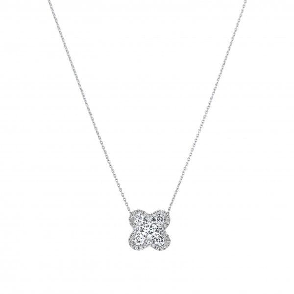 18k White Gold Necklace : 18k White Gold Necklace Houst