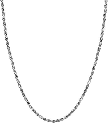 Amazon.com: 24K Chocker Rope Chain Necklace Men Women Strong w .