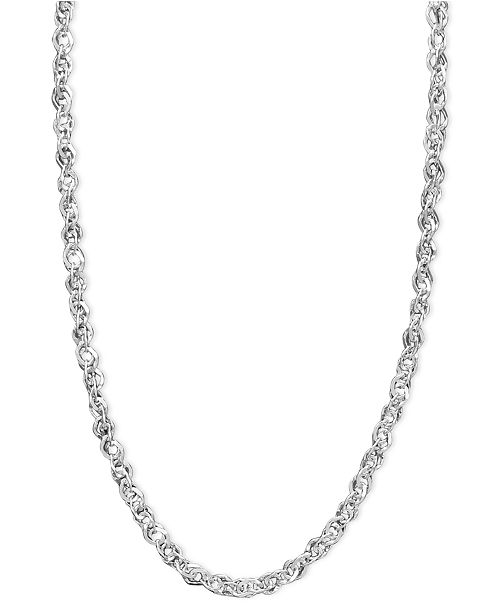 "Italian Gold White Gold Necklace, 14k White Gold 18"" Perfectina ."