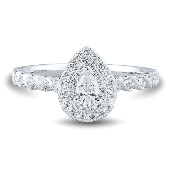 1/2 ct. tw. Diamond 14K White Gold Engagement Ring | Helzberg Diamon