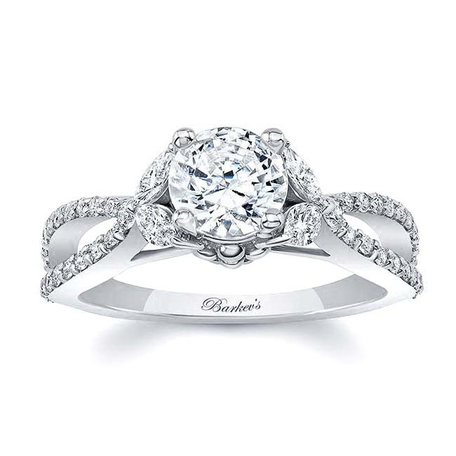 Barkev's White Gold Engagement Ring 8062L | Barkev