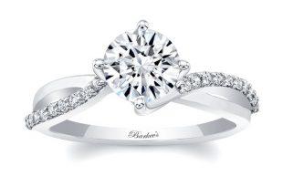 Barkev's White Gold Engagement Ring 8077L | Barkev