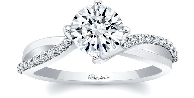 Barkev's White Gold Engagement Ring 8077L | Barkev