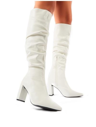 Mine Knee High Boots in White | Public Desire | Public Desire