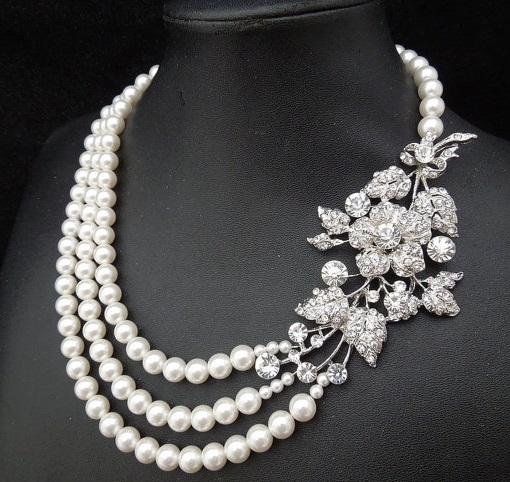 9 Stylish Designs of White Necklaces with Images | Styles At Li