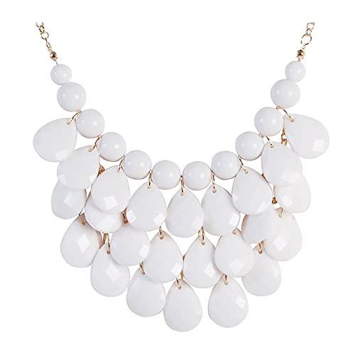 White Stone Necklace: Amazon.c