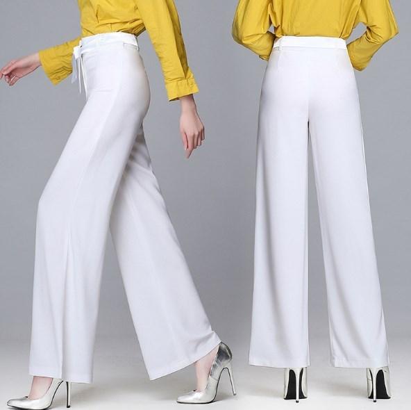 Ladies Summer Wide Leg Pants Women Plus Size Work Wear Palazzo .