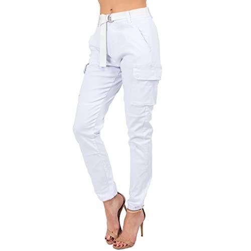 White Cargo Pants: Amazon.c