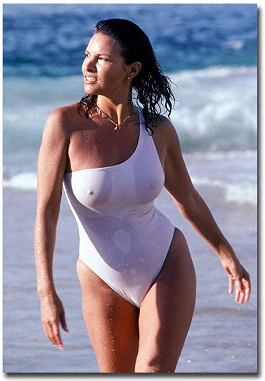 Amazon.com: Sexy Raquel Welch White Swimsuit Wet Refrigerator .