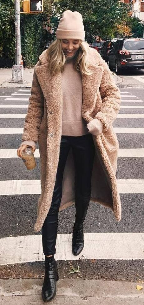 16 Teddy Coat Outfit Ideas That Are Super Cozy | Stylish winter .