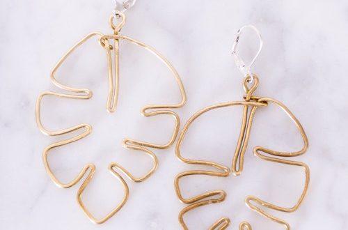 Brass Monstera Leaf DIY Earrin