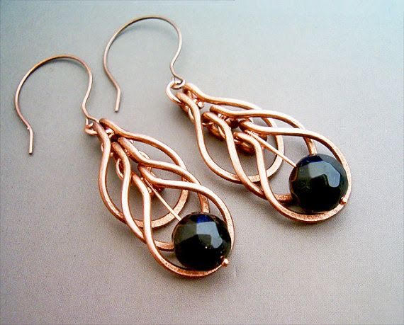 Cascading Copper Wire Earrings CANCELLED - Mondazzi Book .