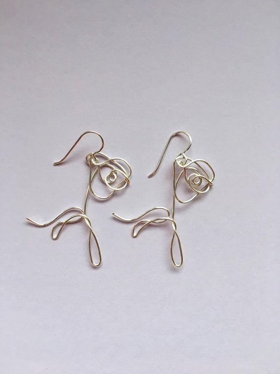 BTS Love Yourself Flower Wire Earrings   Bts earrings, Etsy .