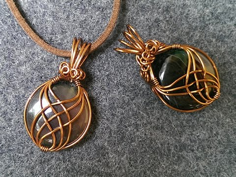 pendant with big stone no holes - wire wrap jewelry making 242 .