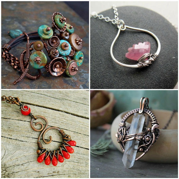 Wire Wrapped Jewelry Inspiration! V - Nunn Desi