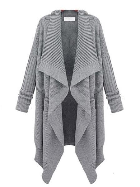 Buy Winter Type Thicken Asymmetrical Hemline Long Women Cardigans .