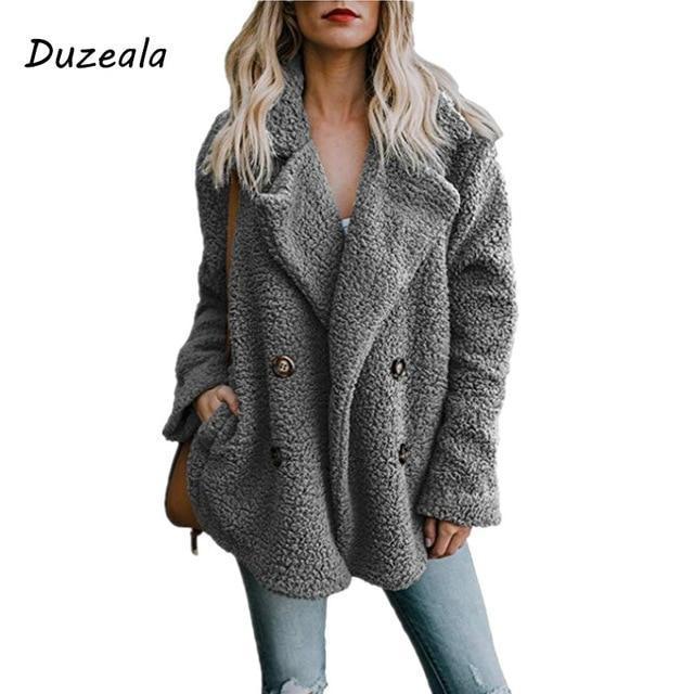 Duzeala Womens Jackets Winter Coat Women Cardigans Ladies Warm .