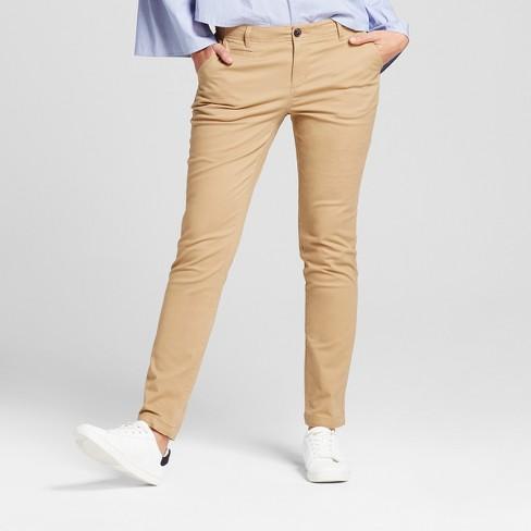 Women's Straight Leg Slim Chino Pants - A New Day™ : Targ