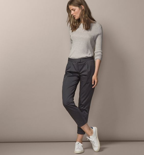 How to Wear Grey Chinos for Women: The Style Guide - FMag.c