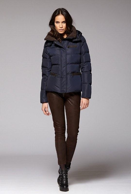 Gimo Women's Short Down Jacket in Navy Gimo Italia - ON SALE .